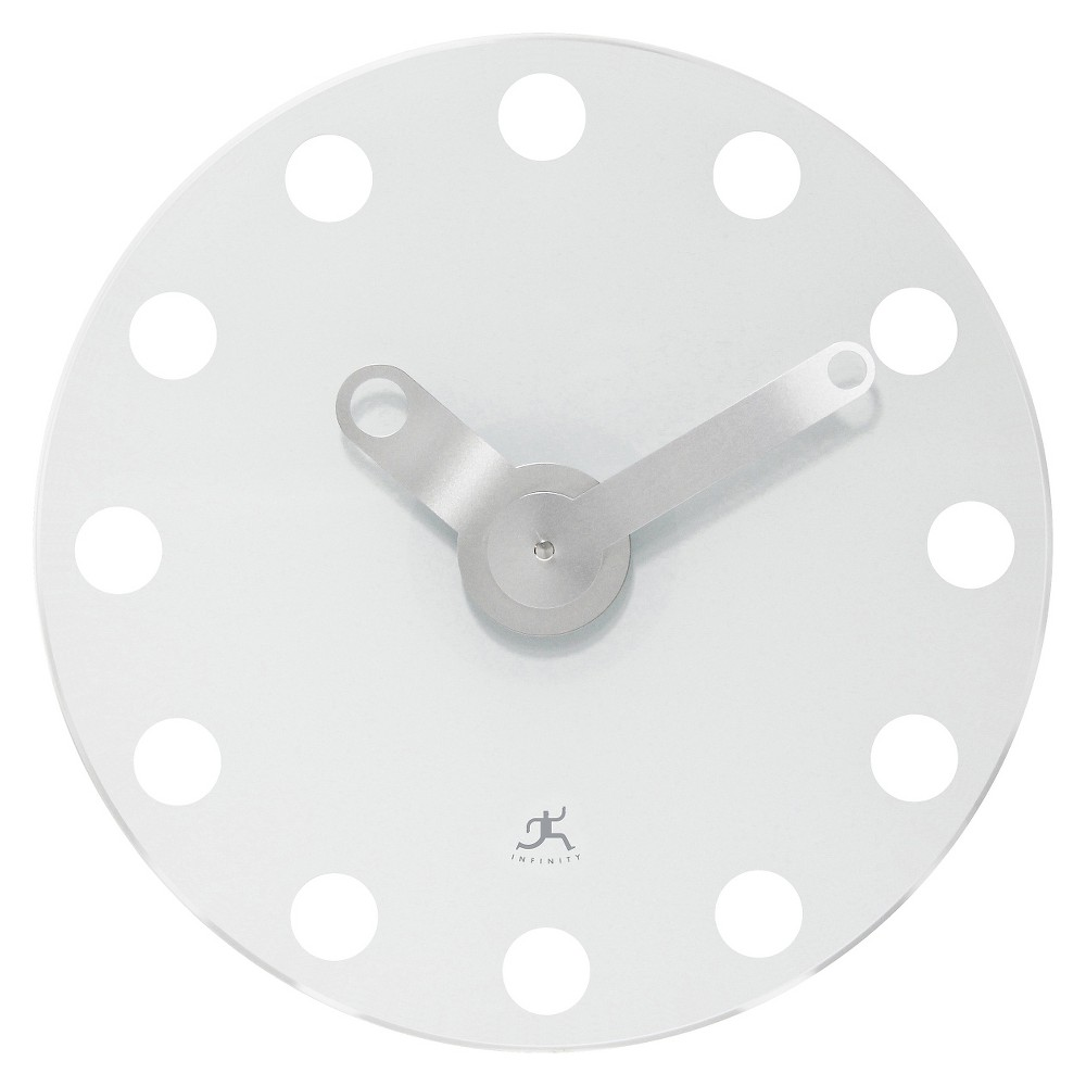 The Accent Round Wall Clock White - Infinity Instruments