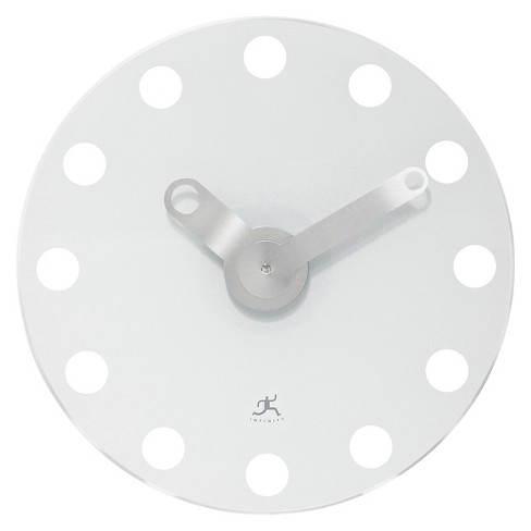 The Accent Round Wall Clock White - Infinity Instruments® - image 1 of 2
