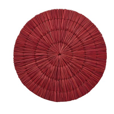 Split P Seagrass Round Placemat Set - Red