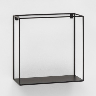 "12"" x 12"" Metal Wall Shelf Black - Project 62™"