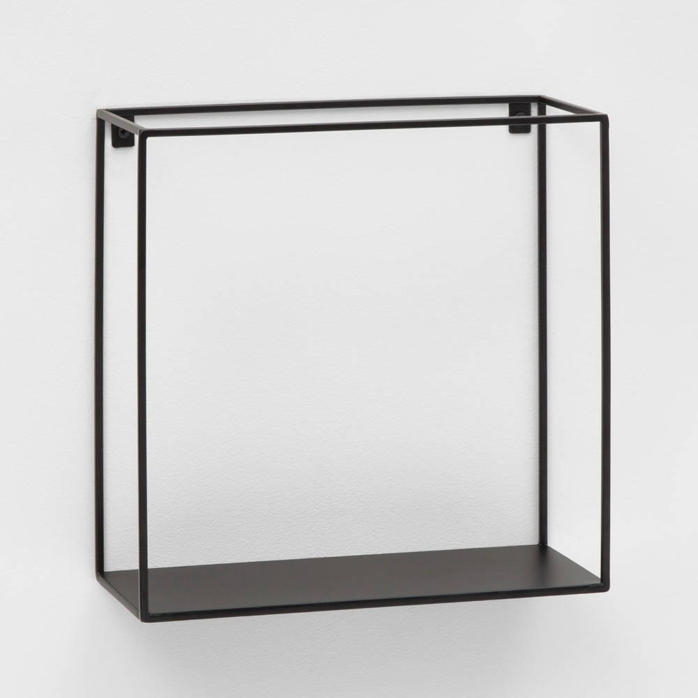 "Image of ""12"""" x 12"""" Metal Wall Shelf Black - Project 62 , Size: 12"""" x 12"""""""