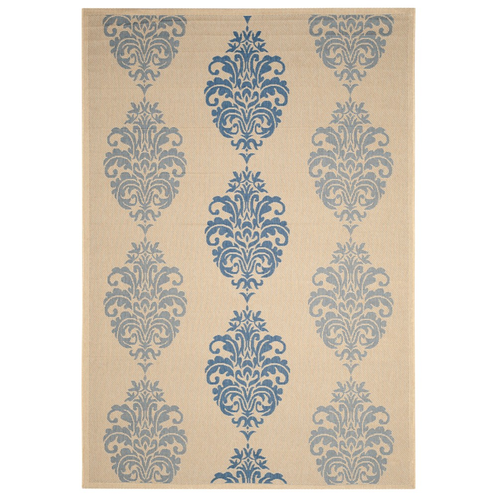 9' x 12' Orly Outdoor Rug Natural/Blue - Safavieh