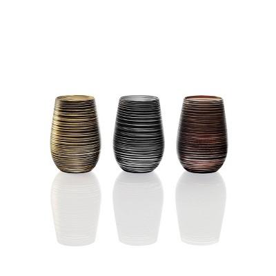 16.5oz 6pk Glass Olympia Twister Tumbler Drinkware Set - Stolzle Lausitz