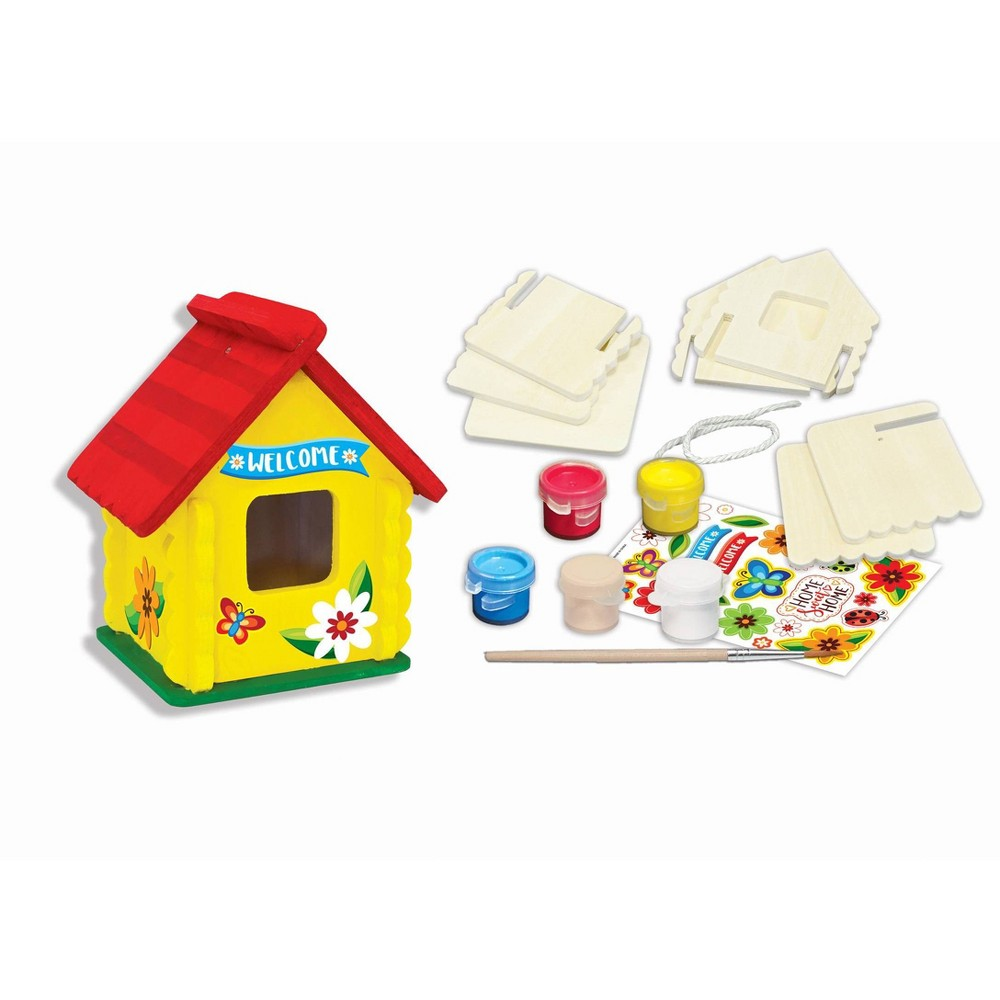 Image of MasterPieces Mini Buildable Birdhouse Blister Card