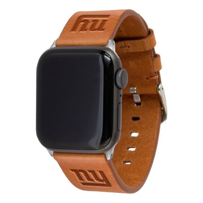 NFL New York Giants Apple Watch Compatible Leather Band 42/44mm - Tan