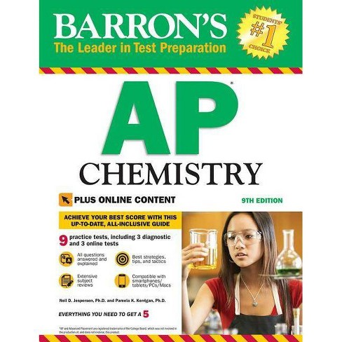 Barron's AP Chemistry with Online Tests - (Barron's Test Prep) 9 Edition (Paperback) - image 1 of 1