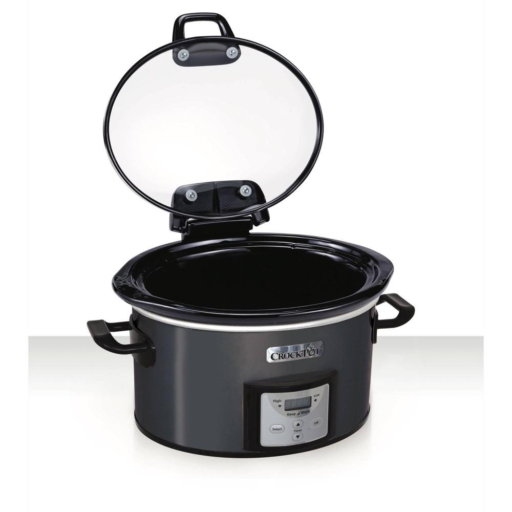 Image of Crock Pot 4qt Programmable - Charcoal, Gray