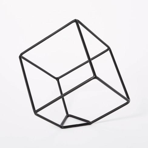 "10.6"" x 11.5"" Decorative Metal Cube Black - Threshold™ designed with Studio McGee - image 1 of 3"