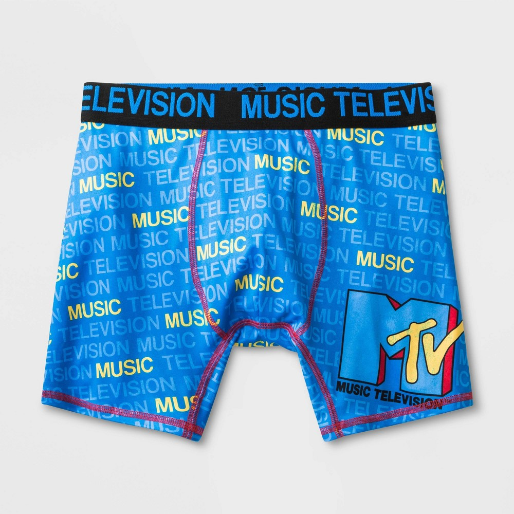 Image of Men's MTV Boxer Briefs - Blue L, Size: Large