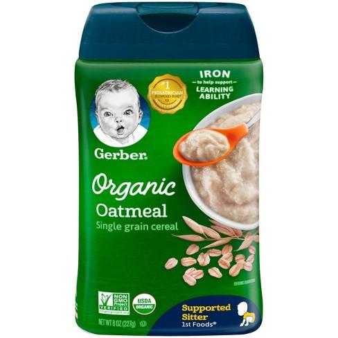 Gerber Organic Single Grain Oatmeal Baby Cereal - 8oz - image 1 of 4