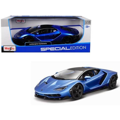 Lamborghini Centenario Metallic Blue With Black Top 1 18 Diecast