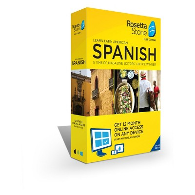Rosetta Stone Home/office Software 12 Month Spanish Latin America