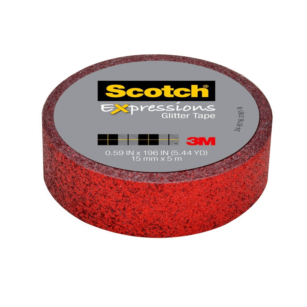 Scotch Expressions Glitter Tape Red