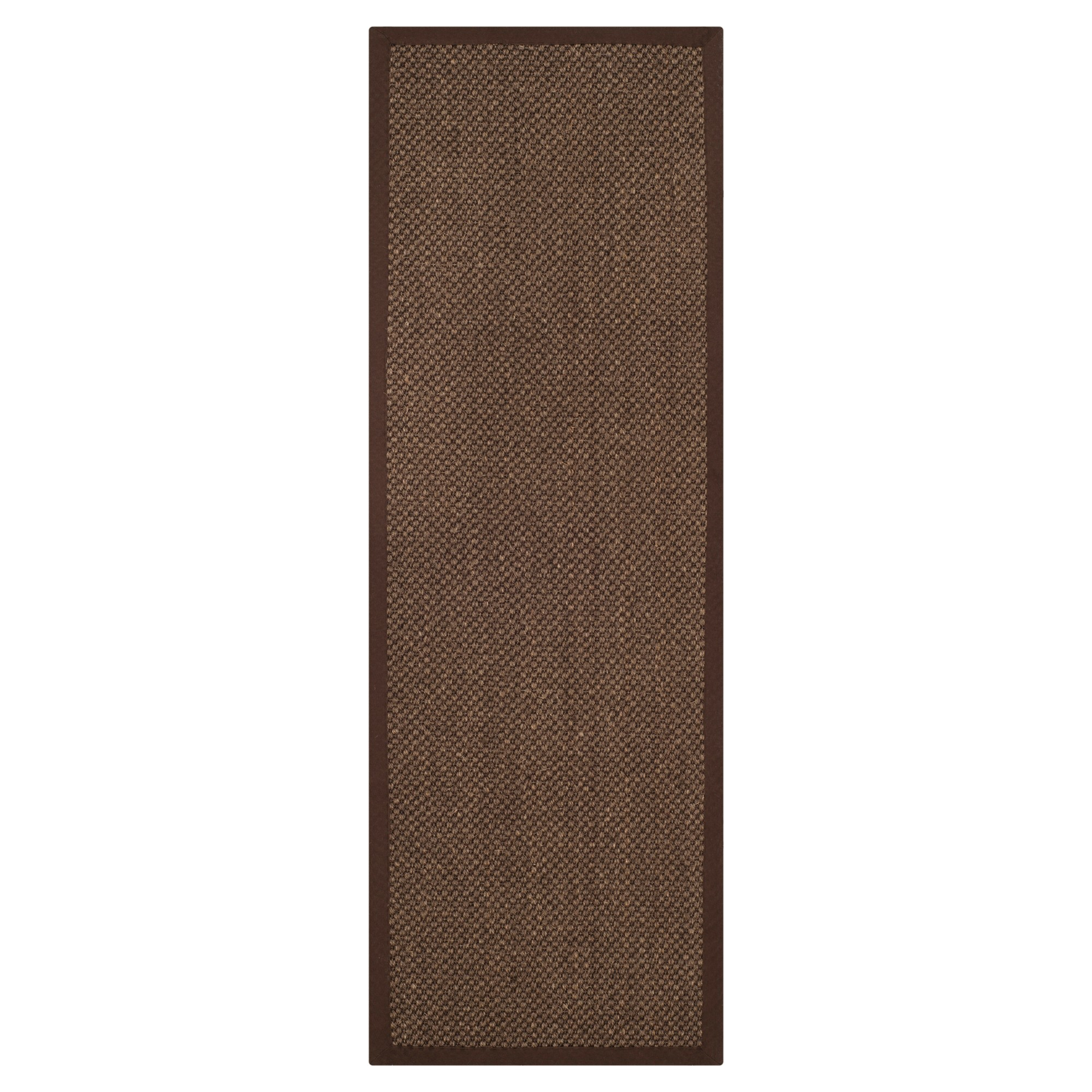 2'6x22' Solid Woven Runners Brown - Safavieh