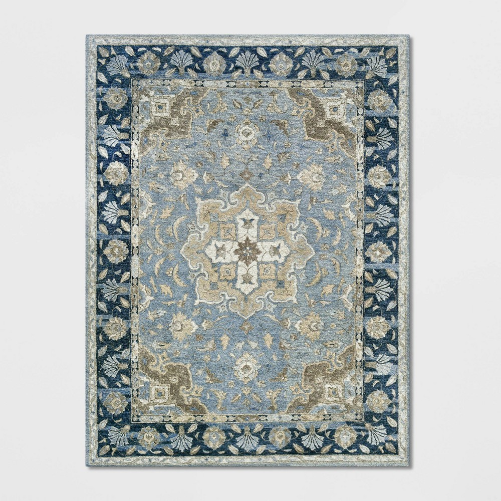 9'X12' Floral Tufted Area Rug Blue - Threshold was $529.99 now $264.99 (50.0% off)