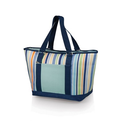 Oniva Topanga 19qt Cooler Tote Bag - Sky Blue with Multi Stripe Pattern