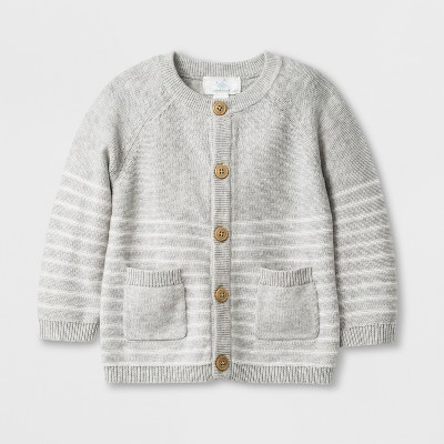 Baby Boys' Long Sleeve Cardigan - Cloud Island™ Gray 6-9M