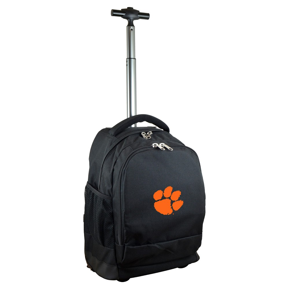 NCAA Clemson Tigers Black Premium Wheeled Backpack