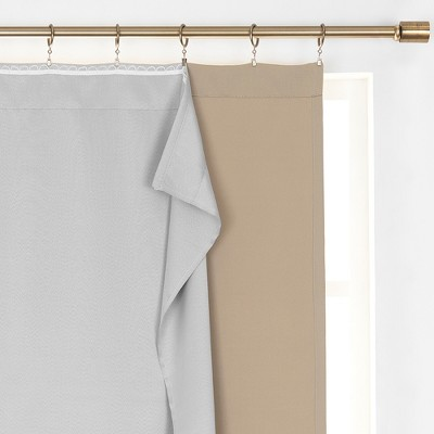 Extra Wide Thermal Blackout Window Curtain Liner - Light Grey - SunVeil