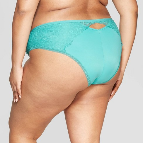 7c6063f1950 Women's Plus Size Micro Cheeky With Lace - Auden™ Dapper Turquoise 1X :  Target