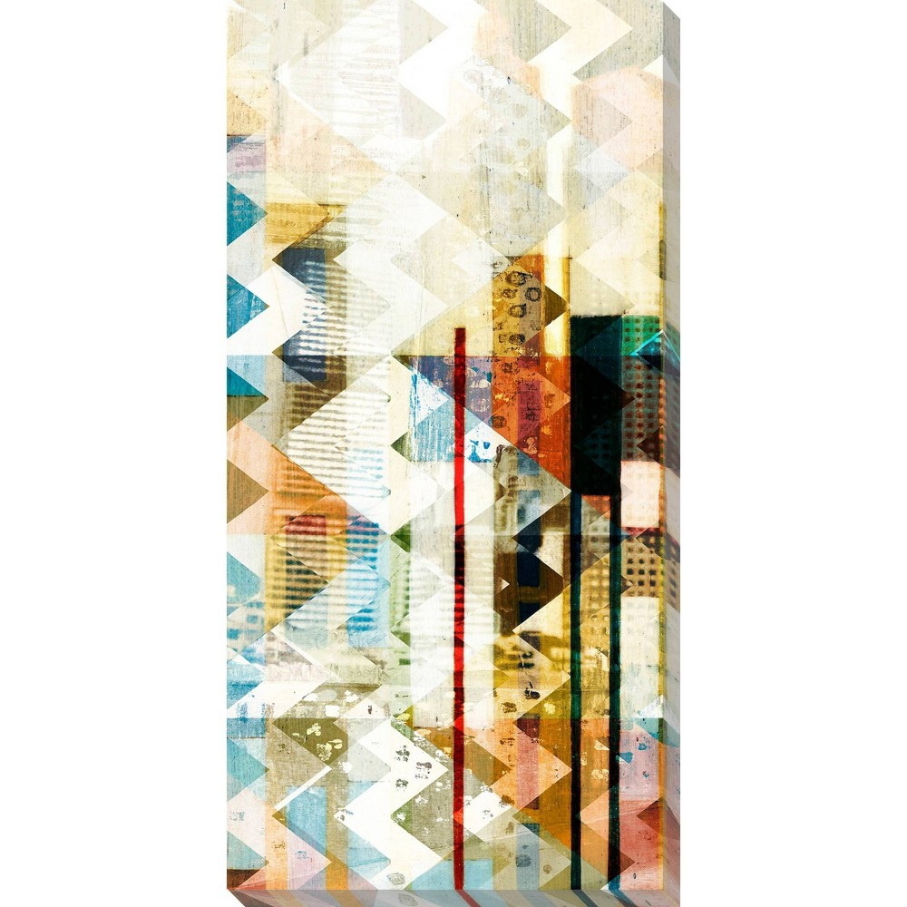 Image of Urban Chevron III Unframed Wall Canvas Art - (18X36)