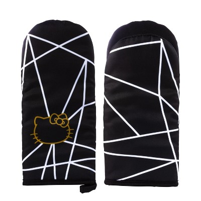 Seven20 Hello Kitty Geo Glam Pinache Black and Gold Oven Mitt
