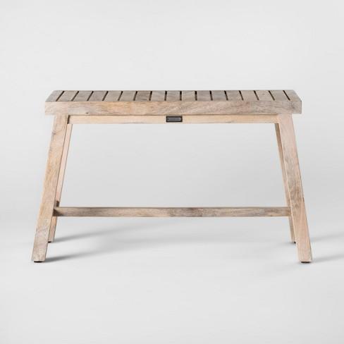 Astounding 18 X 12 Decorative Wooden Bench Natural Smith Hawken Alphanode Cool Chair Designs And Ideas Alphanodeonline
