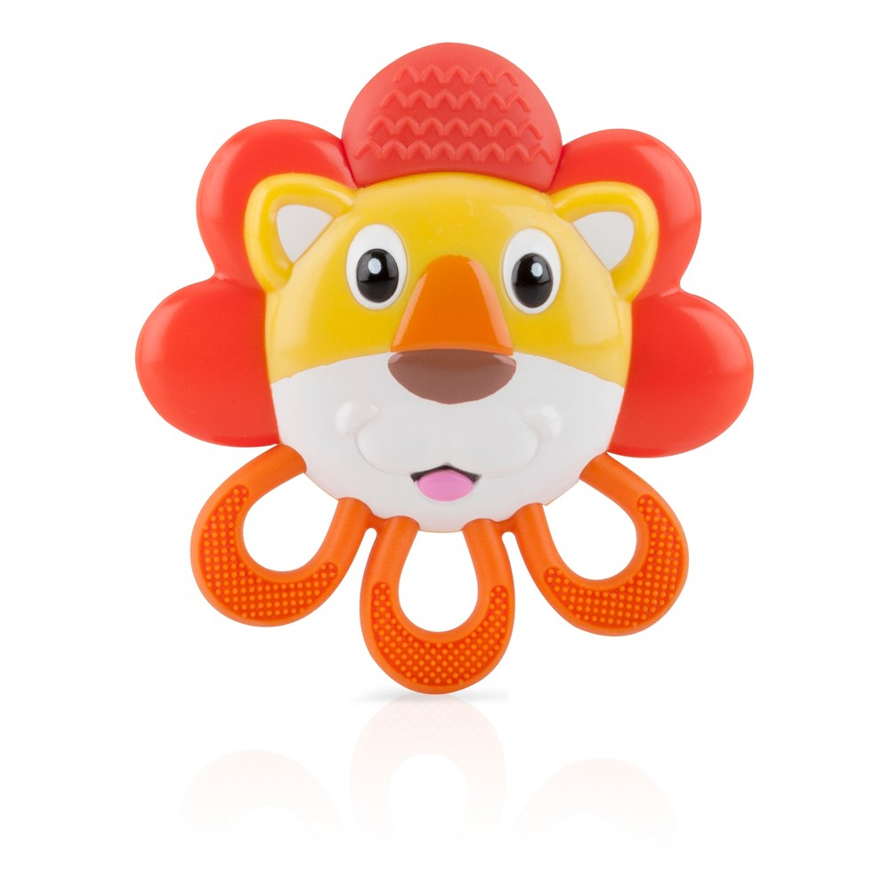 Nuby Vibe-eez Baby Teether - Lion, Multi-Colored