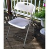Folding Chair Off-White - Plastic Dev Group - image 3 of 3