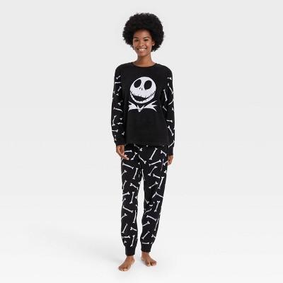 Women's The Nightmare Before Christmas Jack 2pc Matching Family Pajama Set - Black