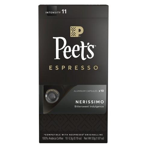 Peet's Espresso Nerissimo Dark Roast Aluminum Capsules - 10ct/1.87oz - image 1 of 3