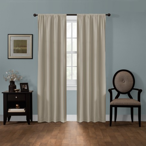"Julius Blackout Smart Curtain Panel Linen 50""x84"" - Maytex - image 1 of 6"
