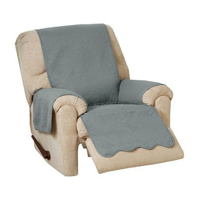 Great Bay Home Medallion Solid Recliner Furniture Protector