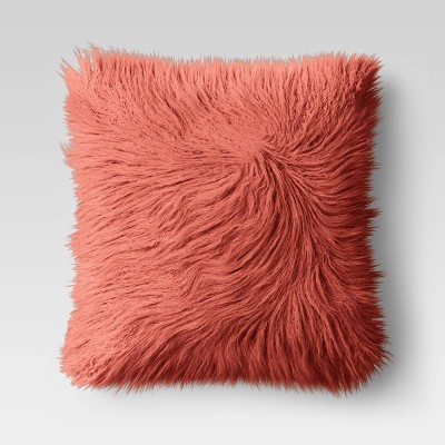 24  x 24  Faux Fur Euro Throw Pillow Blush - Opalhouse™