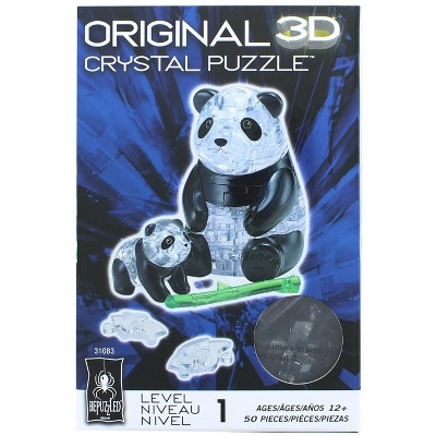 University Games Panda and Baby 50 Piece 3D Crystal Jigsaw Puzzle