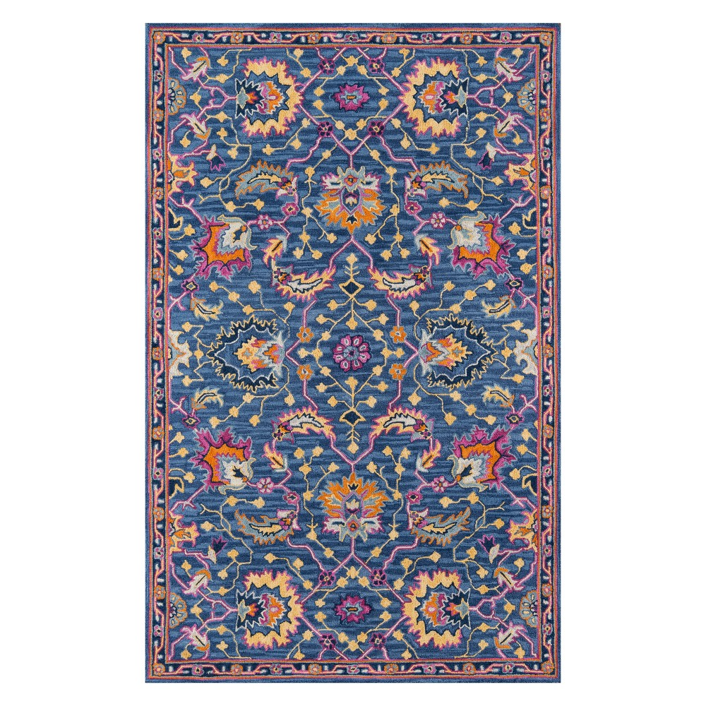 2'X3' Floral Tufted Accent Rug Blue - Momeni