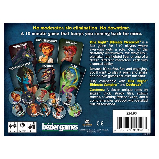 One Night Ultimate Werewolf Game image number null