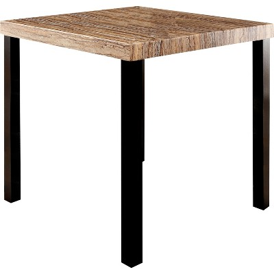 IoHomes Colorful Faux Marble Top Counter Dining Table Wood/Black