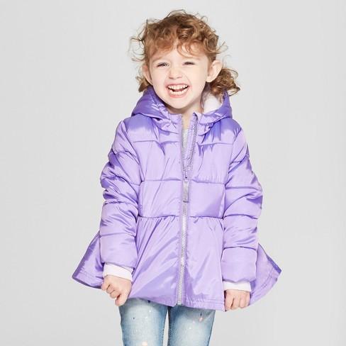 Toddler Girls  Puffer Jacket - Cat   Jack™ Purple   Target 3a6c46624