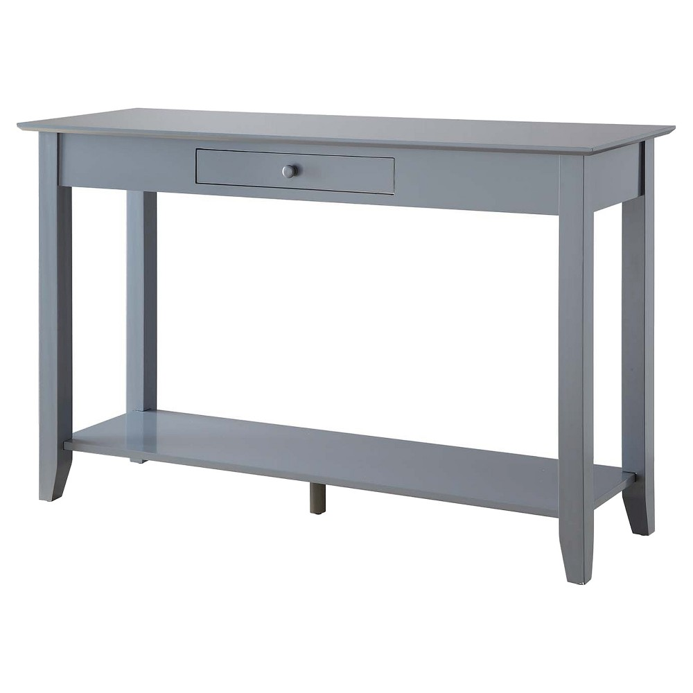 American Heritage Console Table with drawer - Gray - Convenience Concepts