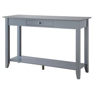 American Heritage Console Table with drawer Gray - Johar Furniture