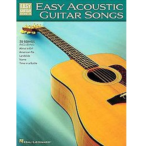 Easy Acoustic Guitar Songs : Easy Gitar With Notes & Tab (Paperback) - image 1 of 1