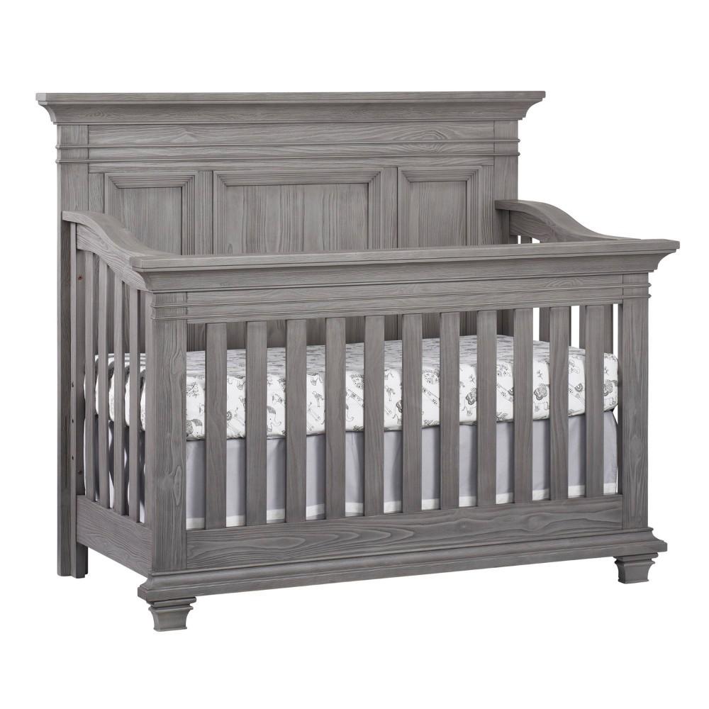 Top Oxford Baby Westport 4-in-1 Convertible Crib - Dusk Gray