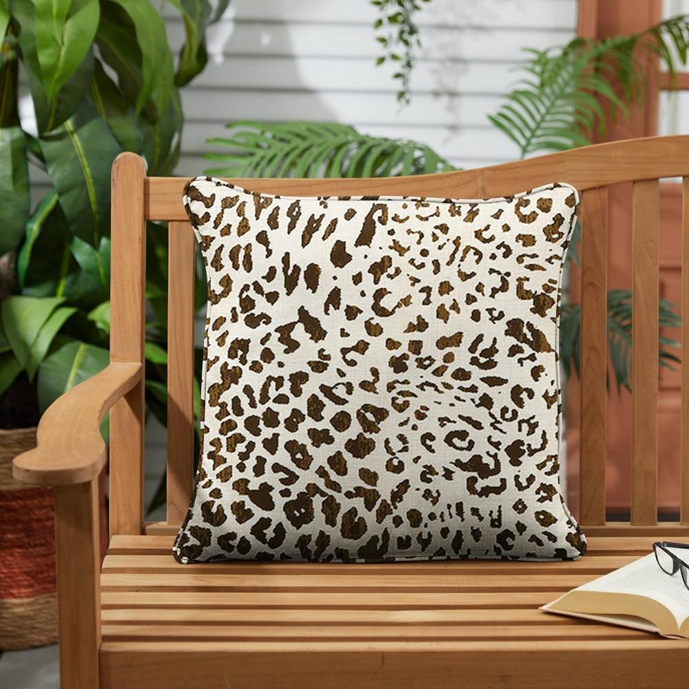 Sunbrella 2pk 22 34 Indoor Outdoor Corded Pillows Espresso Leopard
