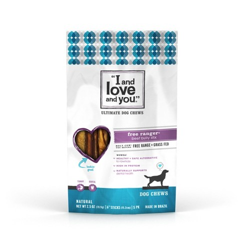 I and Love and You Free Ranger Stix Dog Chews - 2.5oz 5ct - image 1 of 4