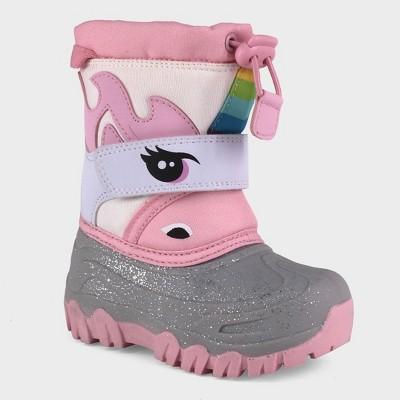 Toddler Girls' Leva Unicorn Winter Boots - Cat & Jack™ White 9