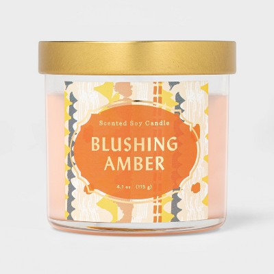 4.1oz Lidded Glass Jar Blushing Amber Candle - Opalhouse™