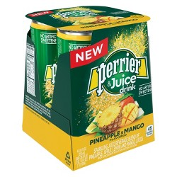 Perrier & Juice Pineapple and Mango Flavored Juice Drink - 4pk/8.45 fl oz Cans