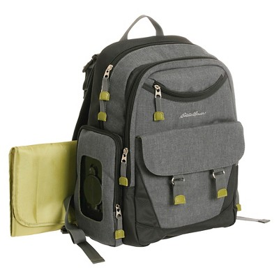 Eddie Bauer Flannel Backpack Gray
