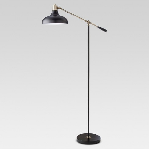 Crosby Schoolhouse Floor Lamp Black  - Threshold™ - image 1 of 4